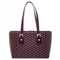uk store stable quality best prices Goyard Burgundy Coated Canvas Okinawa GM Tote