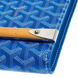 Goyard Blue Coated Canvas Monte Carlo Bois Clutch