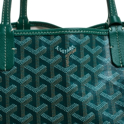 Goyard Green Goyardine Coated Canvas St. Louis PM Tote