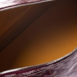 Goyard Burgundy Goyardine Coated Canvas and Leather Croisiere 50 Duffel Bag