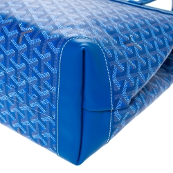 Goyard Blue Goyardine Coated Canvas and Leather Bellechasse PM Tote