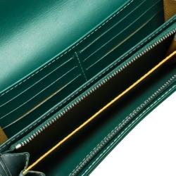 Goyard Green Goyardine Coated Canvas Varenne Continental Wallet