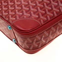Goyard Red Coated Canvas and Leather Trim Diplomat Briefcase