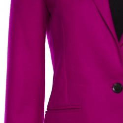 Gucci Magenta Pink Wool and Cashmere Tailored Single Button Blazer M