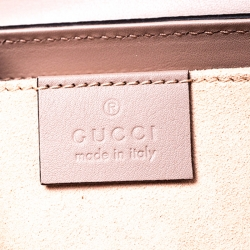Gucci Padlock Pink Gg Supreme Coated Canvas and Leather