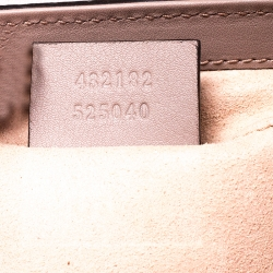 Gucci Padlock GG Supreme Canvas And Leather Shoulder Bag