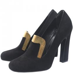 174dbaa02a38 Buy Chanel Grey Black Wool Blend and Leather Cap Toe Mary Jane Block ...