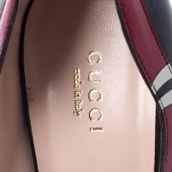 Gucci Black Leather Yoko Snake High Heel Pumps Size 39.5