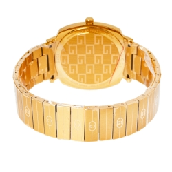 Gucci Yellow Gold PVD Coated Stainless Steel Grip YA157409 Women's Wristwatch 38 mm