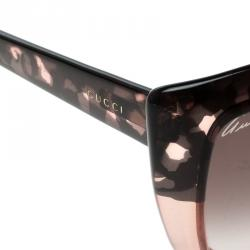 Gucci Brown Tortoise GG 3585/S Butterfly Sunglasses