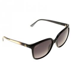 39da691fced5 Gucci Black Gold Brush Black Gradient GG3696 S Butterfly Square Sunglasses