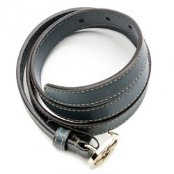 Gucci Blue Leather Interlocking G Buckle Belt Size 85
