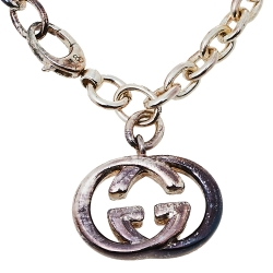 Gucci Sterling Silver Britt Charm Bracelet