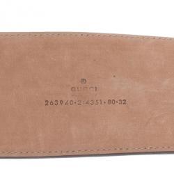 Gucci Beige Leather Tassel Waist Belt 80CM