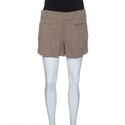 Gucci Brown Horsebit Pocket Detail Shorts M
