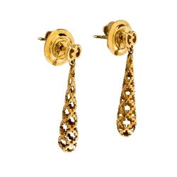 Gucci Diamantissima 18K Rose Gold Drop Earrings