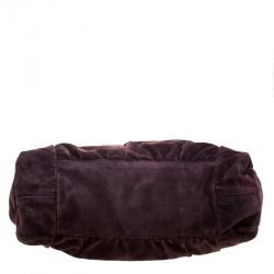 Gucci Purple Suede Large Hysteria Satchel