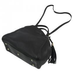 Gucci Black Pebbled Leather Soho Shoulder Bag