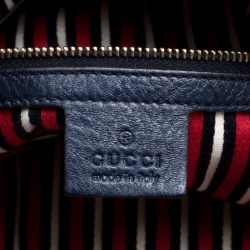 Gucci Navy Blue Leather Medium Voyager Tote