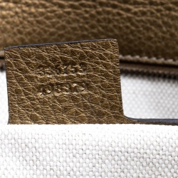Gucci Gold/Brown Ombre Leather Soho Clutch