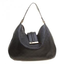 61fd5eebbbd7 Gucci Dark Brown Guccissima Leather Large New Ladies Vintage Web Hobo