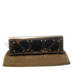 Gucci Gold Leather Romy Clutch
