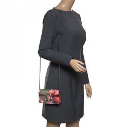 92d0a72351f Gucci Beige Multicolor GG Supreme Canvas Super Mini Dionysus Blooms Print  Shoulder Bag