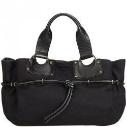 d313d3ff50358c Gucci Black Canvas Tote Bag