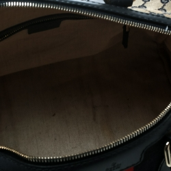 Gucci Blue/Beige GG Canvas Medium Vintage Web Boston Bag