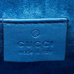 Gucci Beige/Blue GG Supreme Blooms Mini Dionysus Shoulder Bag
