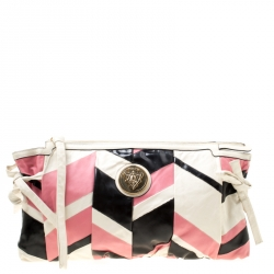 bf87eb155d0a Gucci Multicolor Leather Large Harlequin Patchwork Hysteria Clutch