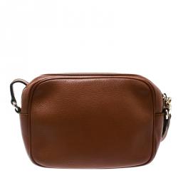 Gucci Brown Leather Soho Disco Crossbody Bag