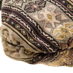 Gucci Multicolor Embroidered Tapestry Fabric Large Hysteria Hobo