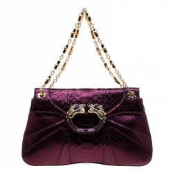 Gucci Purple Python Limited Edition Tom Ford Dragon Shoulder Bag
