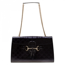 2dbdc52b274ecb Gucci Black Printed Velvet and Alligator Trim Limited Editio... $4,373.  Gucci Purple Guccissima Patent Leather Medium Emily Chain Shoulder Bag