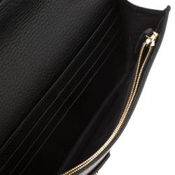 Gucci Black Leather Mini GG Marmont Chain Shoulder Bag