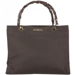 Gucci Black Nylon Bamboo Everyday Bag