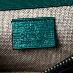 Gucci Green Leather Small Blooms Dionysus Shoulder Bag