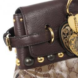 Gucci GG Babouska Crystal Leather Flap Satchel