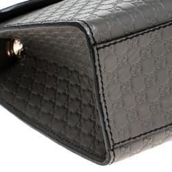 Gucci Grey Microguccissima Leather Medium Emily Chain Shoulder Bag