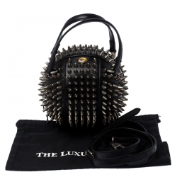 Gucci Black Leather Mini Spike Tifosa Bag
