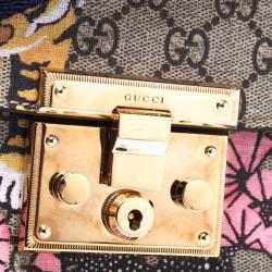 Gucci Multicolor GG Supreme Canvas Bengal Padlock Messenger Bag