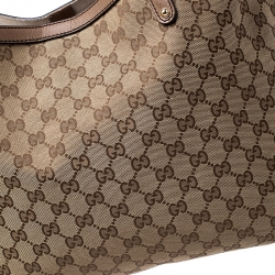 Gucci Beige GG Canvas and Leather Craft Original Tote