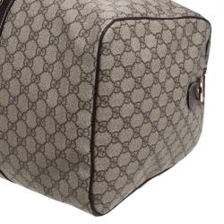Gucci Beige/Brown GG Supreme Canvas Duffel Bag