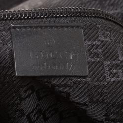 Gucci Black Nylon Web Zipper Line Backpack