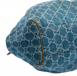 Gucci Blue GG Denim and Leather Medium Sukey Tote