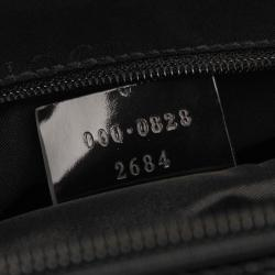 Gucci Black Canvas Bamboo Top Handle Satchel Bag