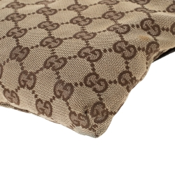 Gucci Brown/Beige GG Canvas and Leather Waist Belt Bag
