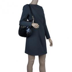 Gucci Black Patent Britt Tassel Flap Bag