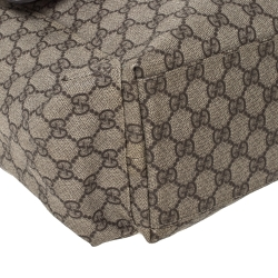 Gucci Beige/Brown GG Supreme Canvas Plus Diaper Bag